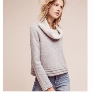 Anthropologie sleeping on snow cowl sweater XS